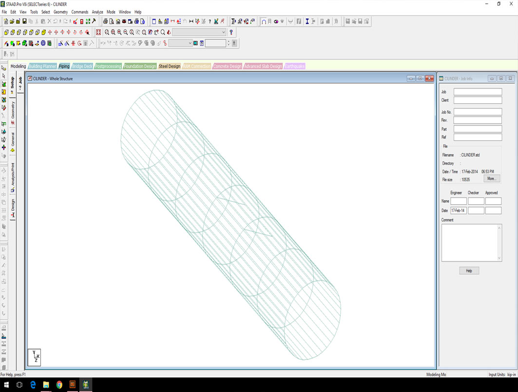 STRUCTURAL ANALYSIS AND CALCULATIONS WITH SOFTWARE MODELS